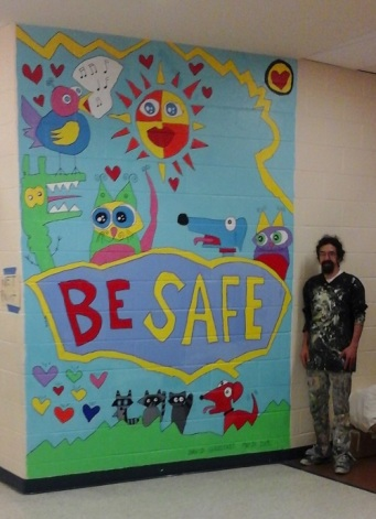 be safe mural 1 with david finished